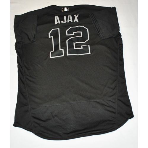 "Photo of Alex ""AJAX"" Jackson Atlanta Braves Game-Used 2019 Players' Weekend Jersey"