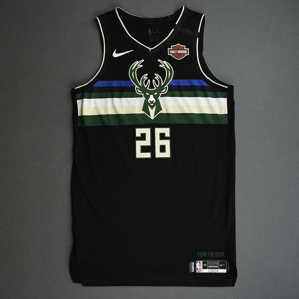 Image of Kyle Korver - Milwaukee Bucks - 2020 NBA Paris Games - Game-Worn Statement Edition Jersey