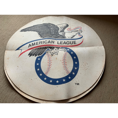Photo of Game-Used American League Logo On-Deck Circle Authenticated - 9/15/2019 - OAK vs. TEX