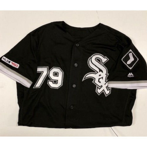 Photo of Jose Abreu Game-Used Black Alternate Jersey
