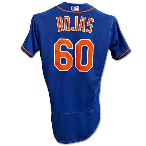 Photo of Luis Rojas #60 - Team Issued Blue Alt. Home Jersey - 2019 Spring Training