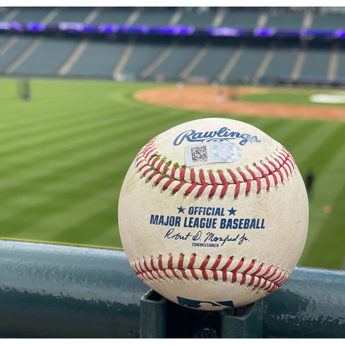 Photo of 2021 Colorado Rockies Game-Used Baseball (July) - PRESALE: Choose your Game Date!