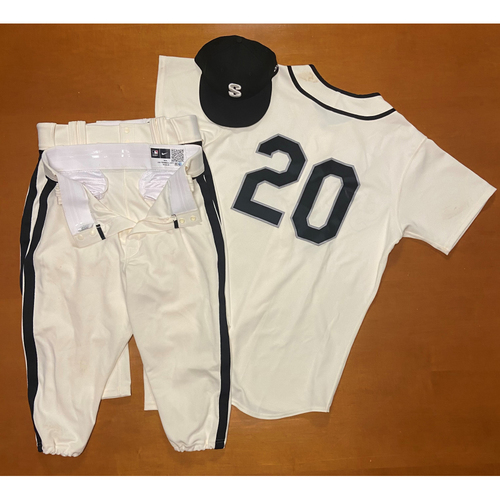 Photo of 2021 Game Used Seattle Steelheads Salute to Negro Leagues Uniform - #20 Taylor Trammell