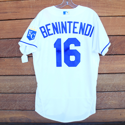 Photo of Game-Used Jersey: Andrew Benintendi #16 - 2 for 4, 2 Singles (STL@KC 8/15/21) - Size 42