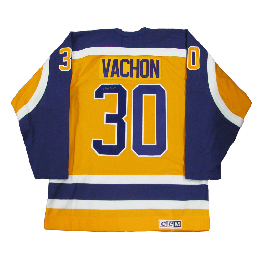 ROGIE VACHON Signed Retro Gold Los Angeles Kings CCM Jersey