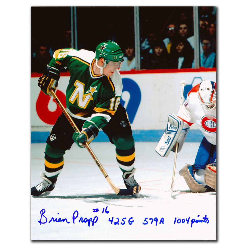 Brian Propp Minnesota North Stars Stats Autographed 8x10