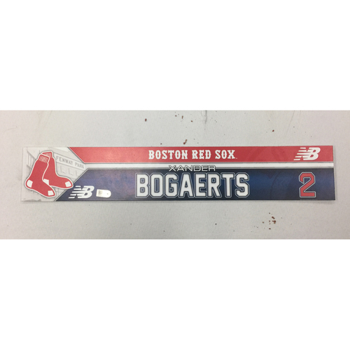 Xander Bogaerts June 19, 2016 Game-Used Locker Tag