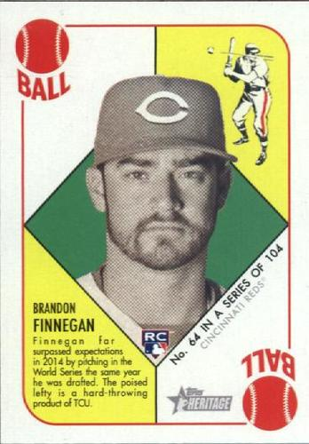 Photo of 2015 Topps Heritage '51 Collection #64 Brandon Finnegan RC