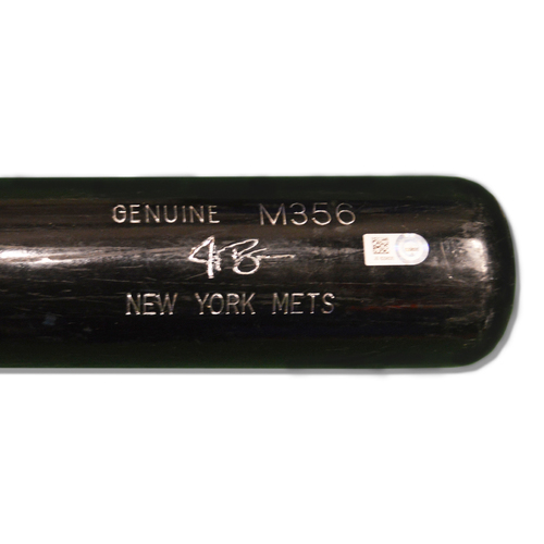 Photo of Jay Bruce #19 - Team Issued Full Black Louisville Slugger Bat - 2017 Season