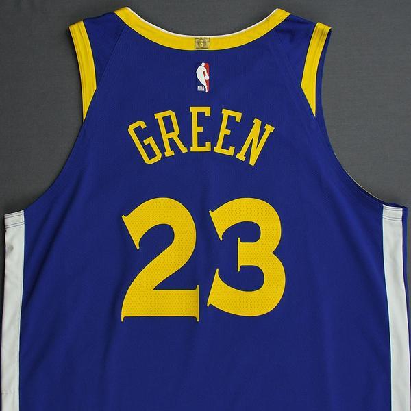 Draymond Green - Golden State Warriors - 2019 NBA Playoffs - Game-Worn Blue Icon Edition Jersey ...