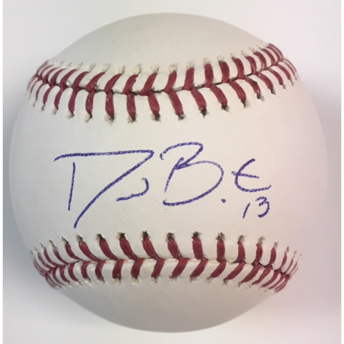 Photo of David Bote Autographed Baseball