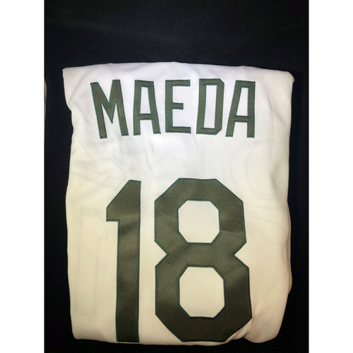Photo of Kenta Maeda Authentic Team-Issued 2018 Memorial Day Los Angeles Dodgers Jersey