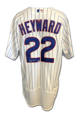 Photo of Jason Heyward Autographed Jersey: Size 48