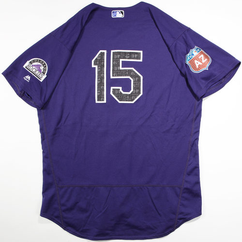 Photo of 2016 Spring Training - Spring Training Game Used Jersey - Tyler Matzek (Rockies)- Size- 50