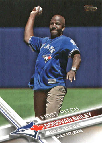Photo of 2017 Topps First Pitch #FP29 Donovan Bailey