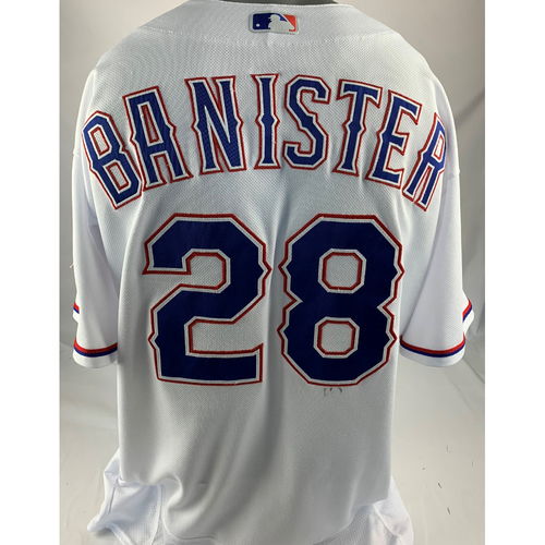 Photo of Game-Used White Jersey - Jeff Banister - Opening Day - 3/29/2018 - Astros at Rangers
