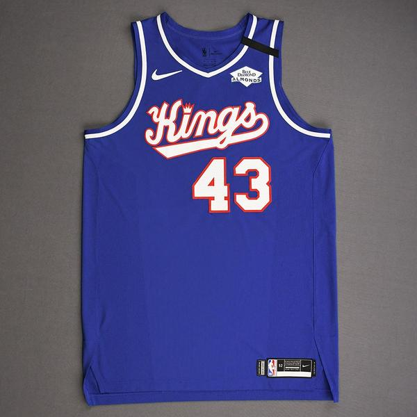 Image of Anthony Tolliver - Sacramento Kings - Game-Worn Classic Edition 1990-94 Road Jersey - Dressed, Did Not Play - 2019-20 NBA Season