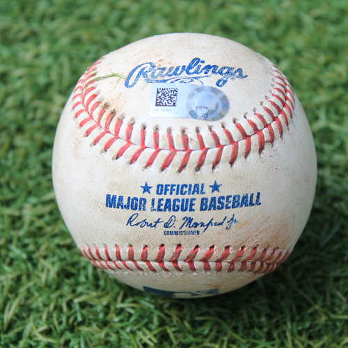 Photo of Game-Used Baseball: Luis Arraez 119th Career Hit (MIN @ KC 8/9/20)