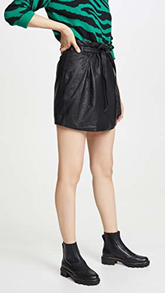 Photo of Free People Faux Leather Payton Paperbag Miniskirt