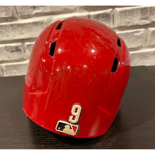 Photo of Jose Peraza -- Game-Used Helmet -- 2019 Opening Day -- Left Ear Flap -- Size 7 1/2