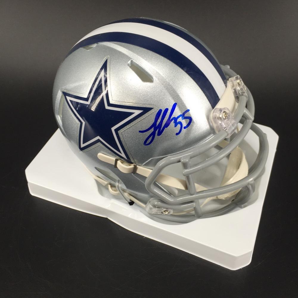 NFL - Cowboys Leighton Vander Esch Signed Mini Helmet