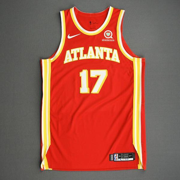Image of Onyeka Okongwu - Atlanta Hawks - Game-Worn Icon Edition Jersey - 2020-21 NBA Season