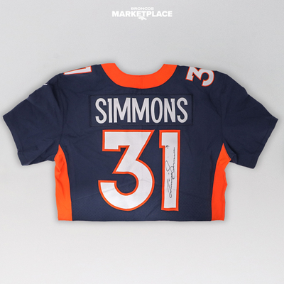 Photo of Justin Simmons Autographed Authentic Jersey