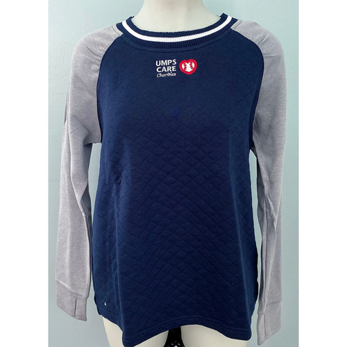 Photo of UMPS CARE AUCTION: UMPS CARE Antigua Women's Navy MVP Quilted Sweatshirt, Size L