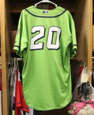 Stockton Ports T.J. Schofield-Sam Asparagus jersey, #20, Size 46