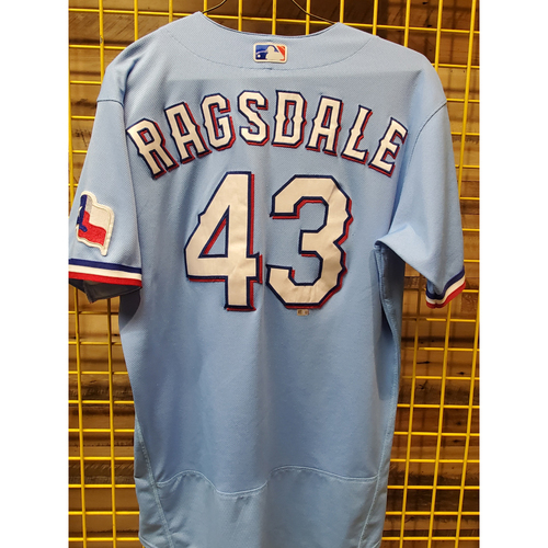 Photo of Corey Ragsdale Game-Used Baby Blue Jersey - 6/6/21