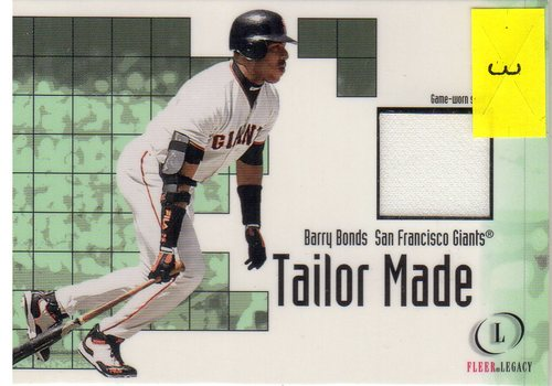 Photo of 2001 Fleer Legacy Tailor Made #3 Barry Bonds