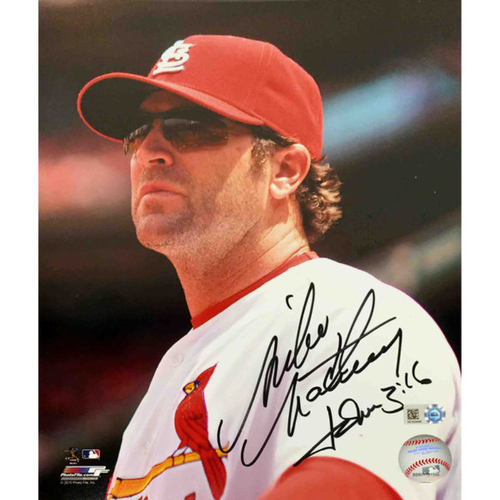 Cardinals Authentics: Mike Matheny Autographed Photo