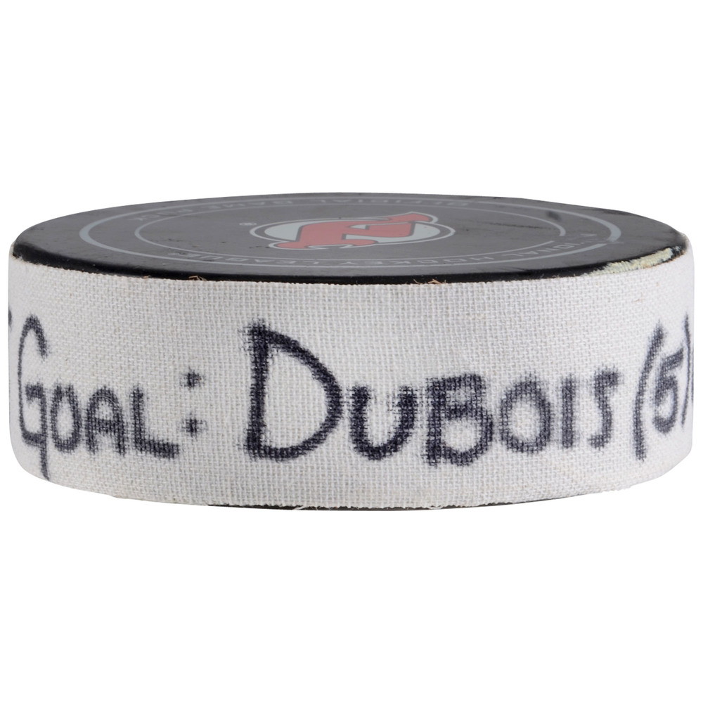 Pierre-Luc Dubois Columbus Blue Jackets Game-Used Goal Puck from December 8, 2017 vs. New Jersey Devils