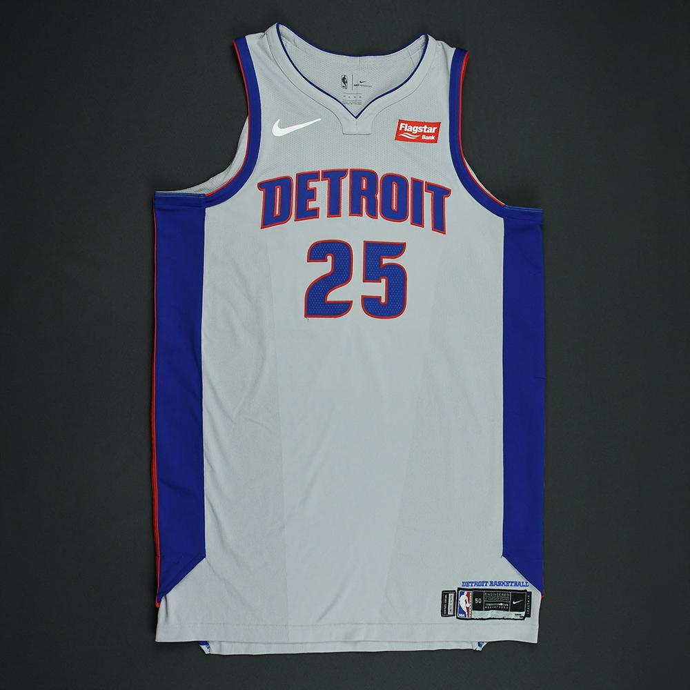 reputable site bfe99 f6829 Reggie Bullock - Detroit Pistons - Statement Game-Worn ...