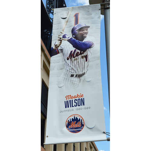 Photo of Mookie Wilson #1 - Citi Field Banner - 2018 Season