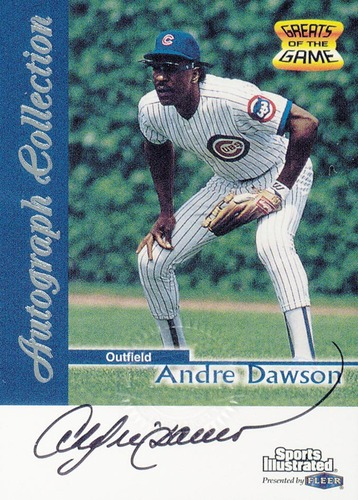 Photo of 1999 Sports Illustrated Greats of the Game Autographs #19 Andre Dawson
