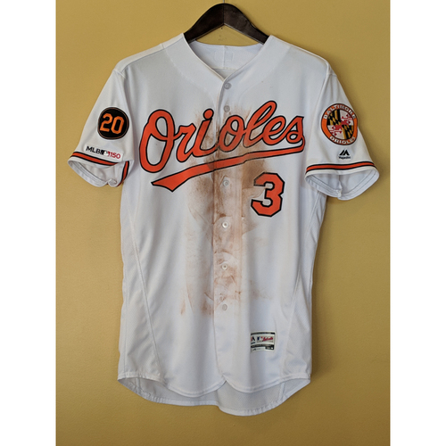 Photo of Cedric Mullins Game-Used Home Jersey: 4/8/19