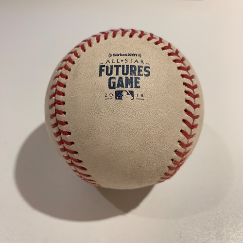 Photo of 2018 All Star Futures Game - Game Used Baseball - Batter: Dawel Lugo Pitcher: Justus Sheffield - Top 3rd -  Single