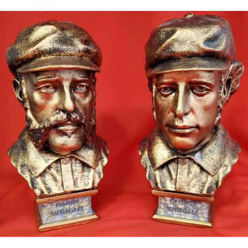 Photo of Harry Wright and George Wright Bronze Busts