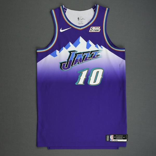 Image of Mike Conley - Utah Jazz - Game-Worn Classic Edition 1996-04 Road Jersey - 2019-20 Season