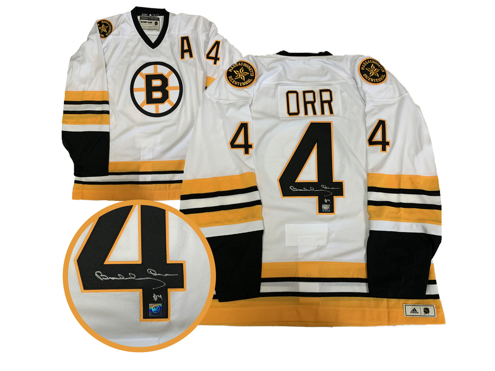 Bobby Orr Signed Jersey Bruins Vintage Adidas White 1974-75