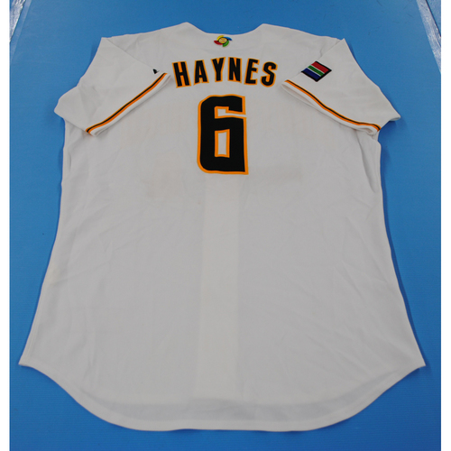 Photo of 2006 Inaugural World Baseball Classic: Dylan Haynes Game-worn Team South Africa Home Jersey
