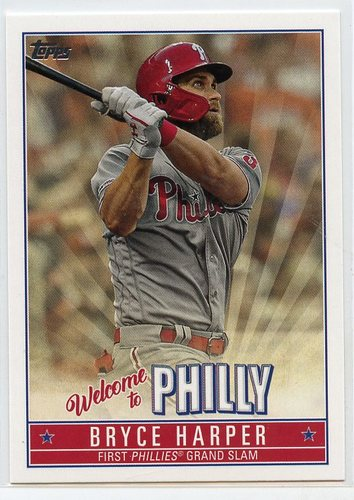 Photo of 2019 Topps Update Bryce Harper Welcome to Philly #BH17 Bryce Harper