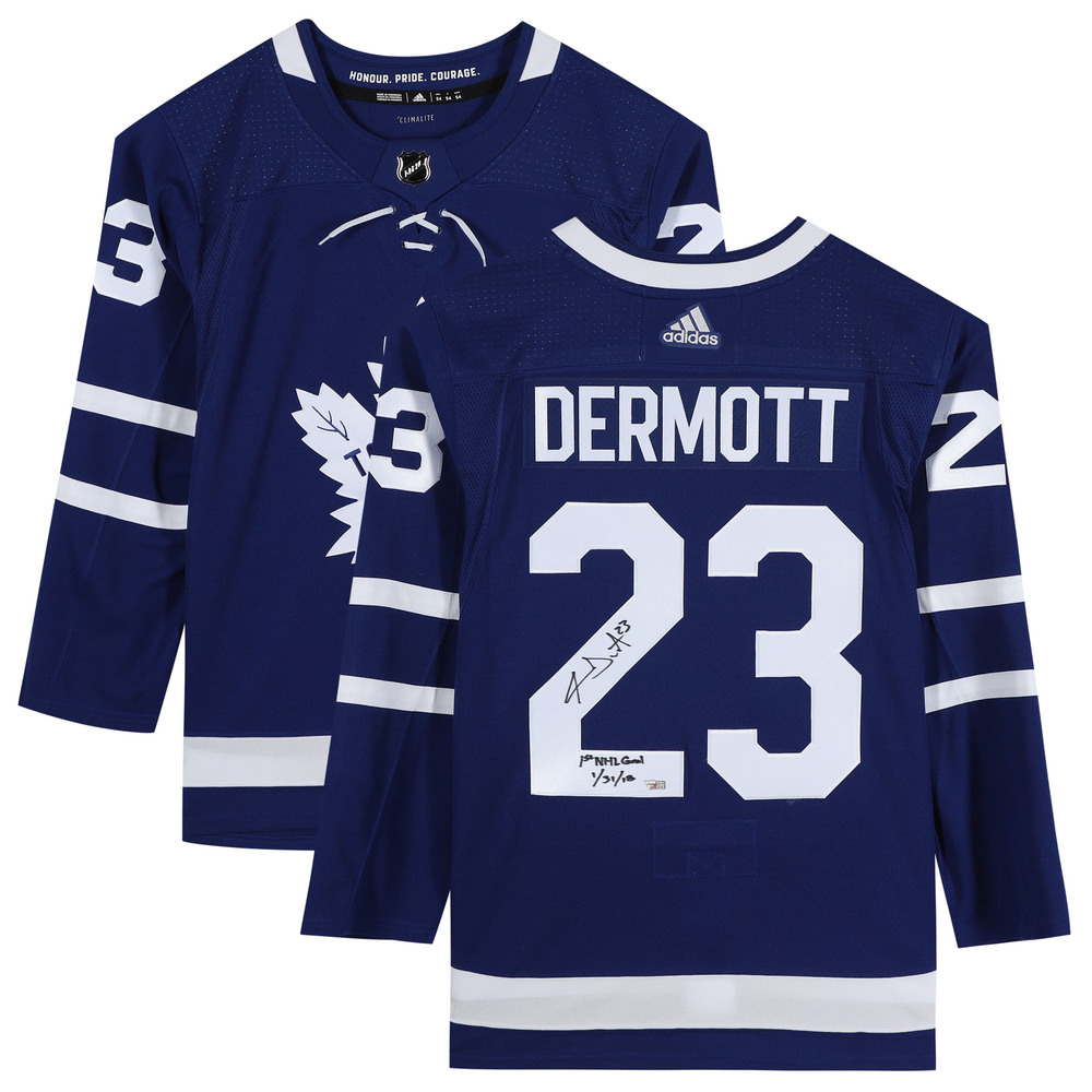 Travis Dermott Toronto Maple Leafs Autographed Blue Adidas Authentic Jersey with