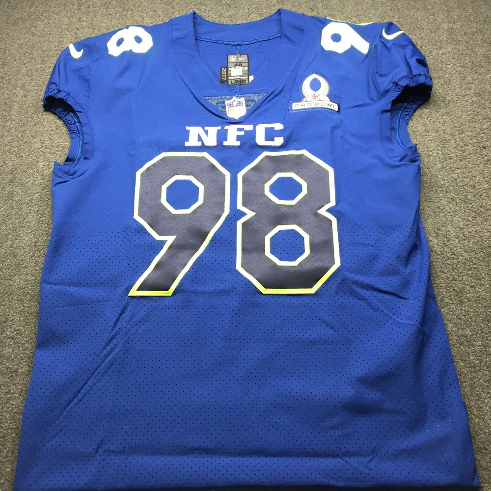 NFL Auction   NFL - Vikings Linval Joseph Game issued 2017 NFC Pro ...