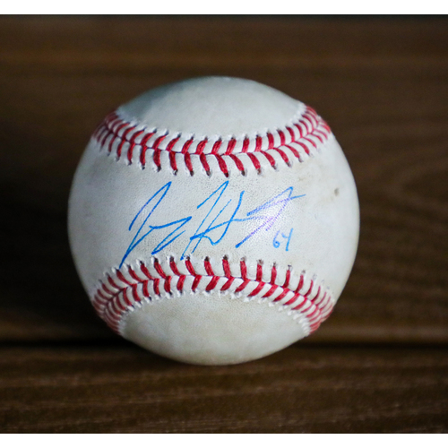 Photo of Jimmy Herget Autographed Baseball - NOT MLB AUTHENTICATED - Certificate of Authenticity Included