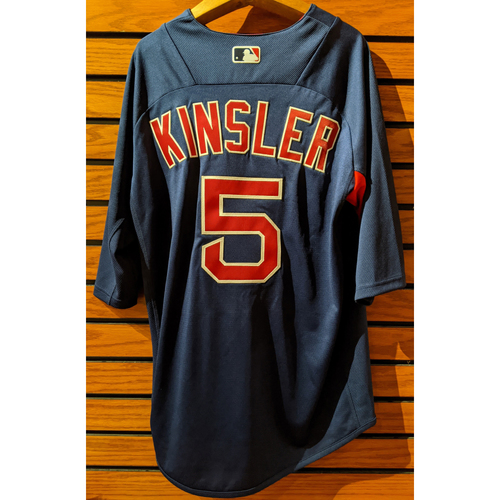Photo of Ian Kinsler #5 Team Issue Blue Batting Practice Jersey