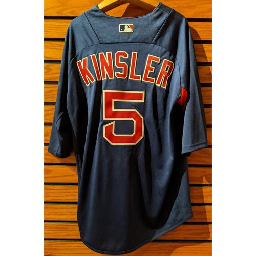 Photo of Ian Kinsler #5 Team Issue Blue Batting Practice Jersey