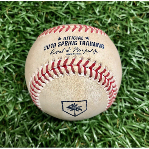 Game Used Spring Training Baseball: Scott Kingery triple off Austin Pruitt - February 22, 2019 v PHI