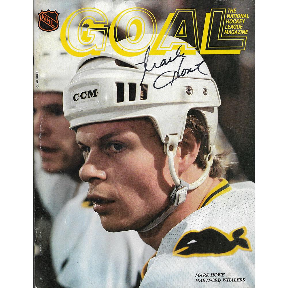 Mark Howe Autographed Pittsburgh Penguins Program - April 2, 1980